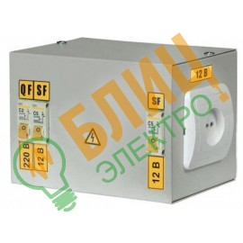 Ящик с понижающим трансформатором ЯТП 0,25 380/12-3 IEK (1)