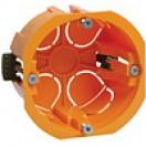 Коробка IEK установочная для твердых стен d65х40мм с саморезами КМ40002 (300)